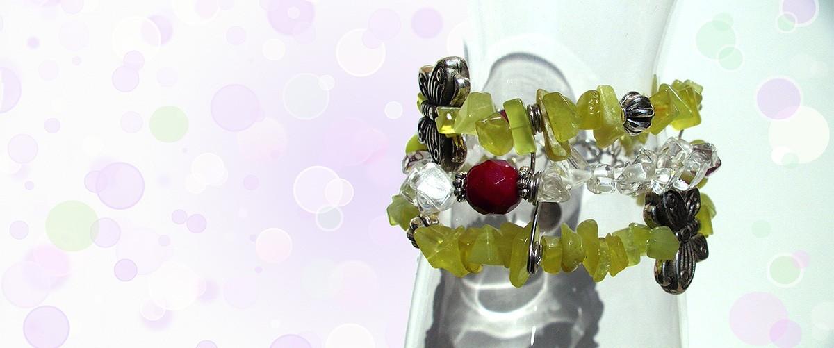 Chaine, anneaux et Swarovski
